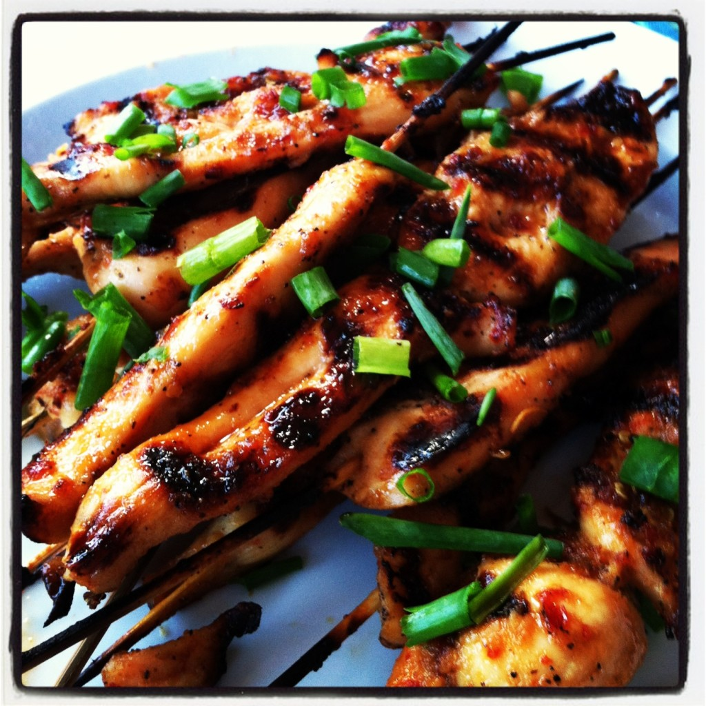 Sriracha Chicken Skewers