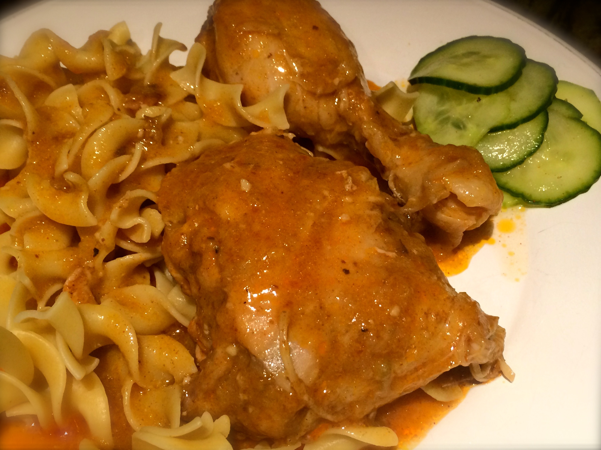 Hungarian Chicken Paprikash & Cucumber Salad | Mommy Bistro